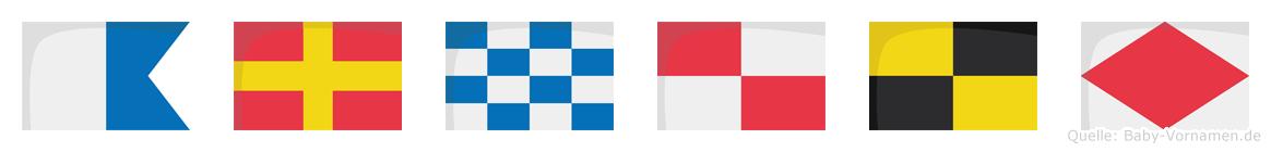 Arnulf im Flaggenalphabet