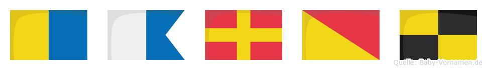 Karol im Flaggenalphabet