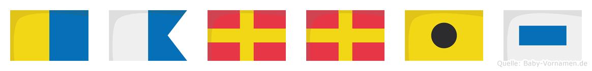 Karris im Flaggenalphabet