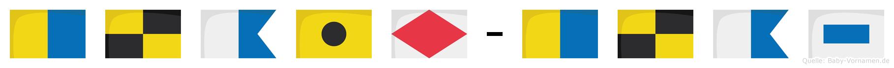 Klaif-Klas im Flaggenalphabet