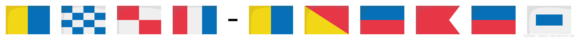 Knut-Köbes im Flaggenalphabet