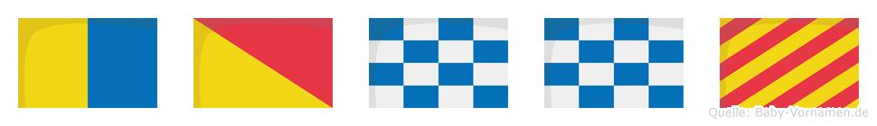 Konny im Flaggenalphabet