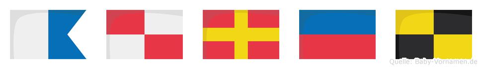 Aurel im Flaggenalphabet