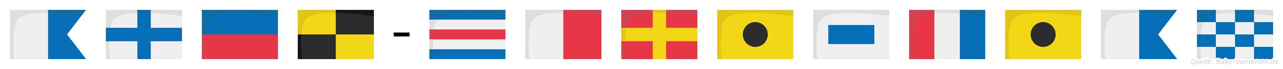 Axel-Christian im Flaggenalphabet