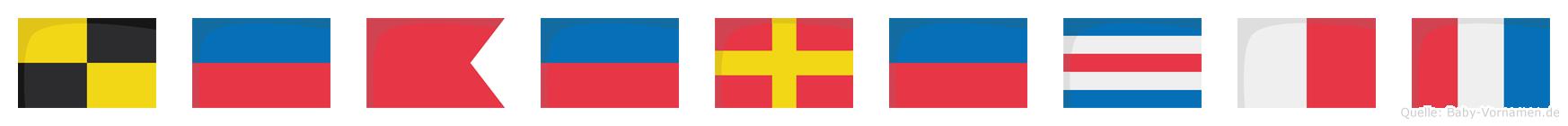 Leberecht im Flaggenalphabet