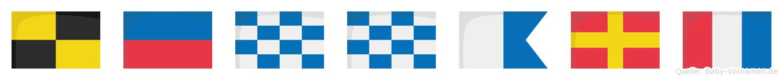 Lennart im Flaggenalphabet