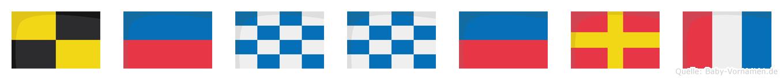 Lennert im Flaggenalphabet