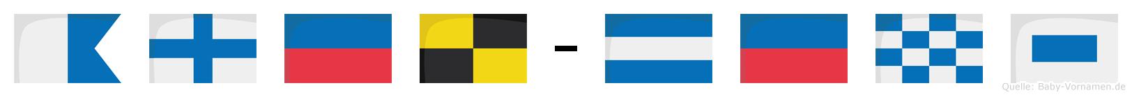Axel-Jens im Flaggenalphabet