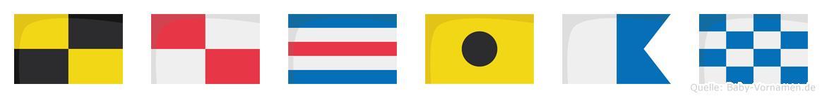 Lucian im Flaggenalphabet