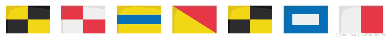 Ludolph im Flaggenalphabet