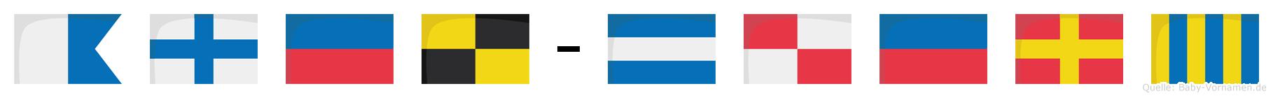 Axel-Jürg im Flaggenalphabet