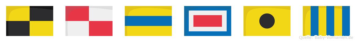 Ludwig im Flaggenalphabet