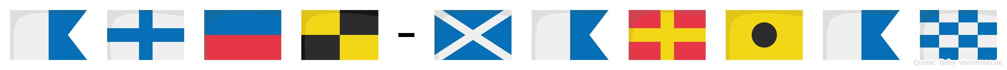 Axel-Marian im Flaggenalphabet