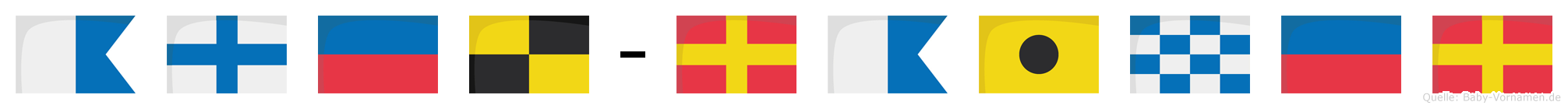 Axel-Rainer im Flaggenalphabet