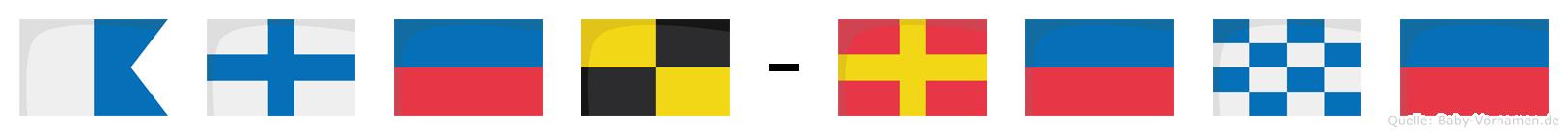 Axel-Rene im Flaggenalphabet