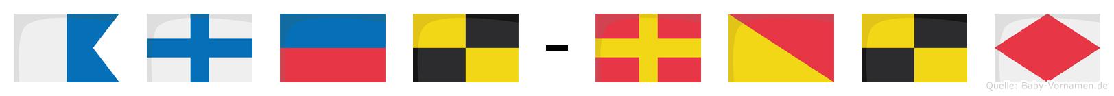 Axel-Rolf im Flaggenalphabet