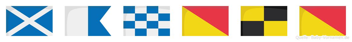 Manolo im Flaggenalphabet