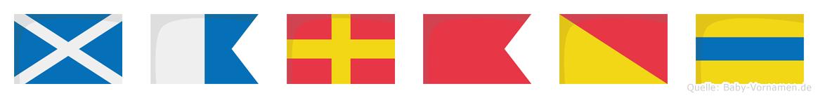 Marbod im Flaggenalphabet