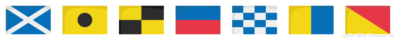 Milenko im Flaggenalphabet