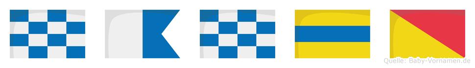 Nando im Flaggenalphabet