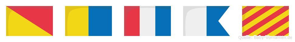 Oktay im Flaggenalphabet