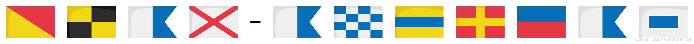 Olav-Andreas im Flaggenalphabet