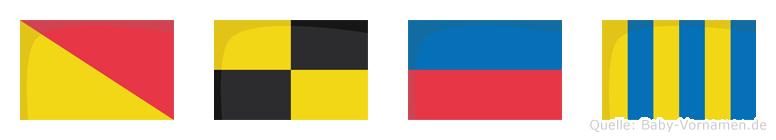 Oleg im Flaggenalphabet