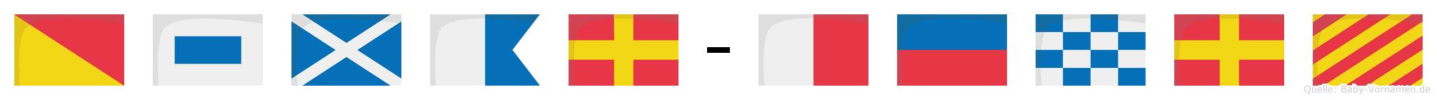Osmar-Henry im Flaggenalphabet