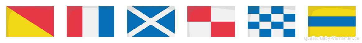 Otmund im Flaggenalphabet