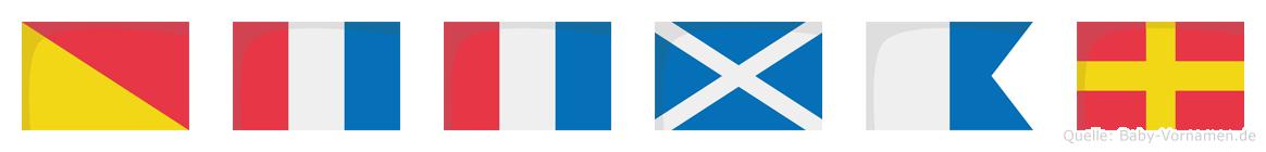 Ottmar im Flaggenalphabet