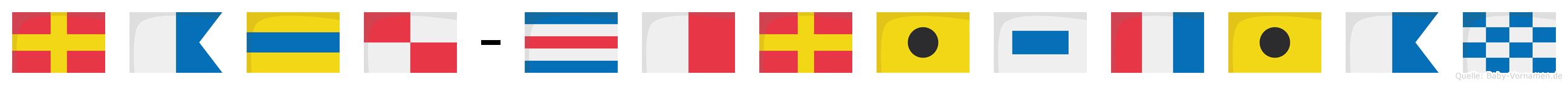 Radu-Christian im Flaggenalphabet