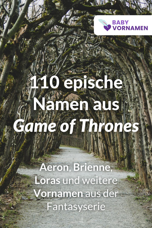 Vornamen aus Game of Thrones
