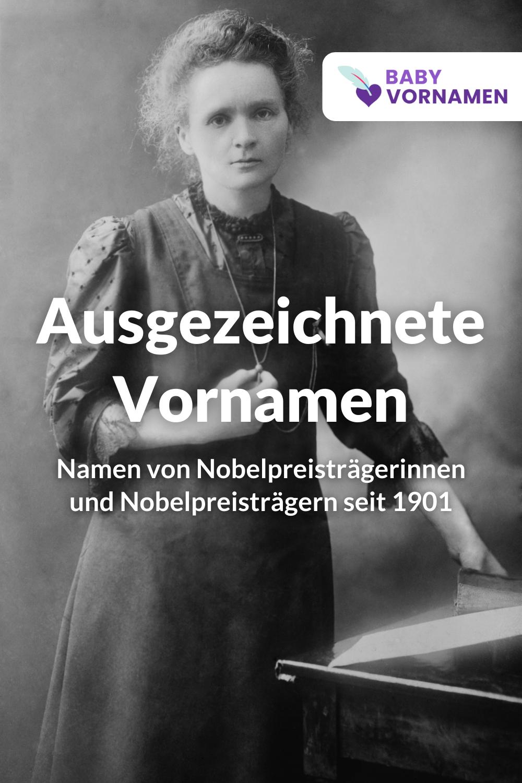 Vornamen von Nobelpreisträgern