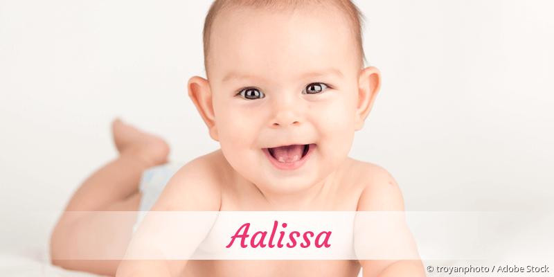 Name Aalissa als Bild