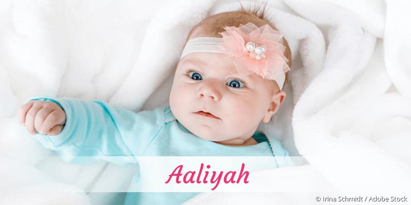 Name Aaliyah als Bild