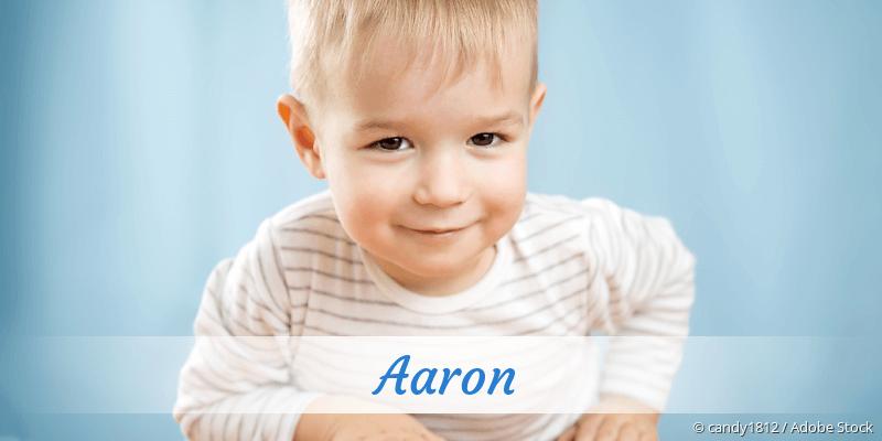 Name Aaron als Bild