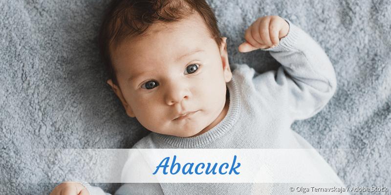 Name Abacuck als Bild