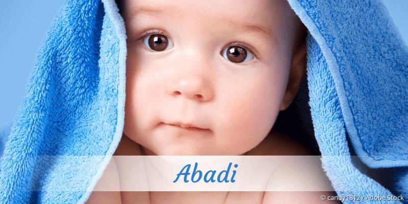Name Abadi als Bild