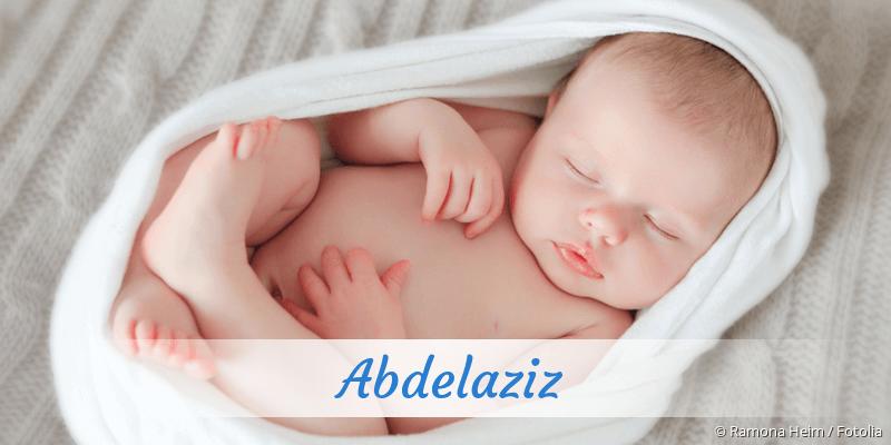 Name Abdelaziz als Bild