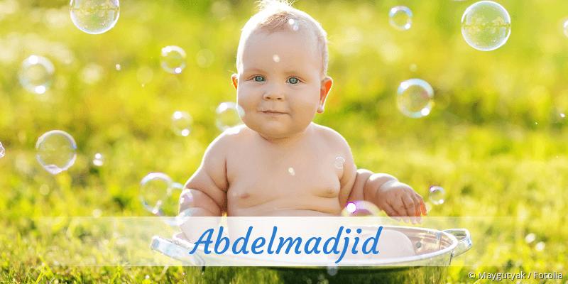 Name Abdelmadjid als Bild