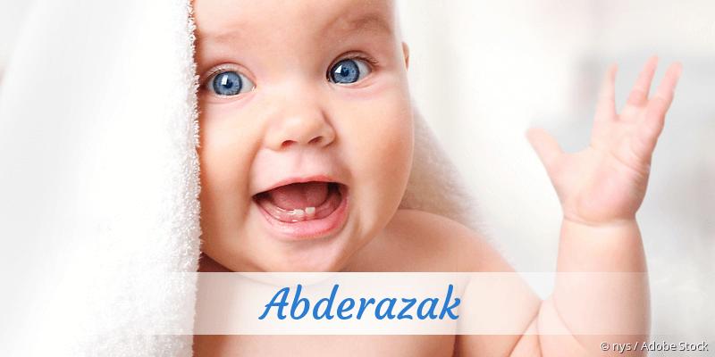 Name Abderazak als Bild