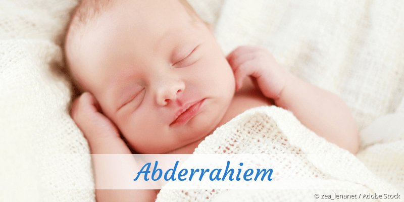 Name Abderrahiem als Bild