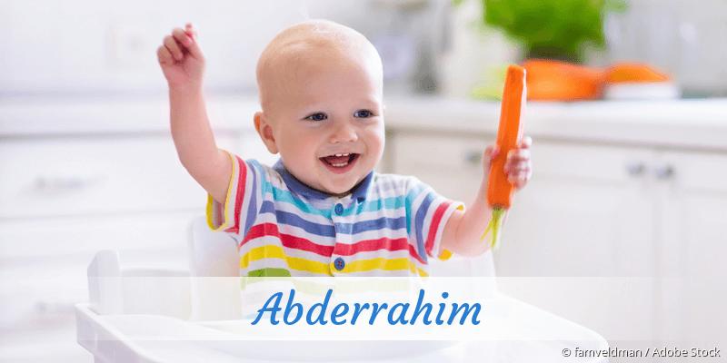Name Abderrahim als Bild