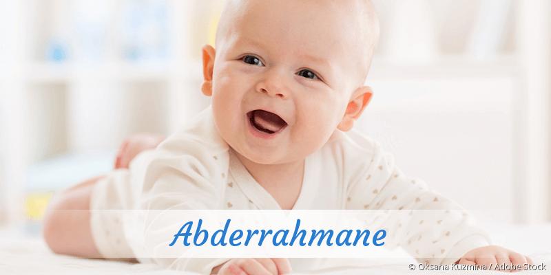 Name Abderrahmane als Bild