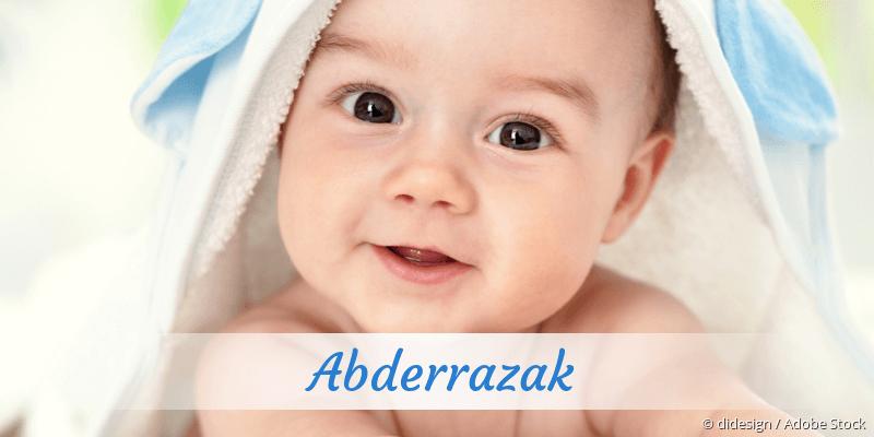 Name Abderrazak als Bild