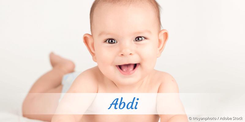 Name Abdi als Bild