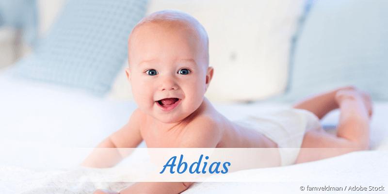 Name Abdias als Bild