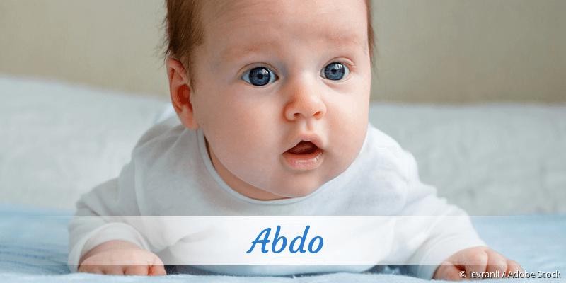 Name Abdo als Bild