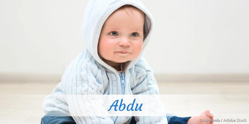 Name Abdu als Bild