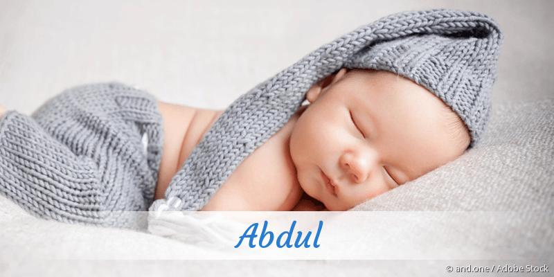 Name Abdul als Bild